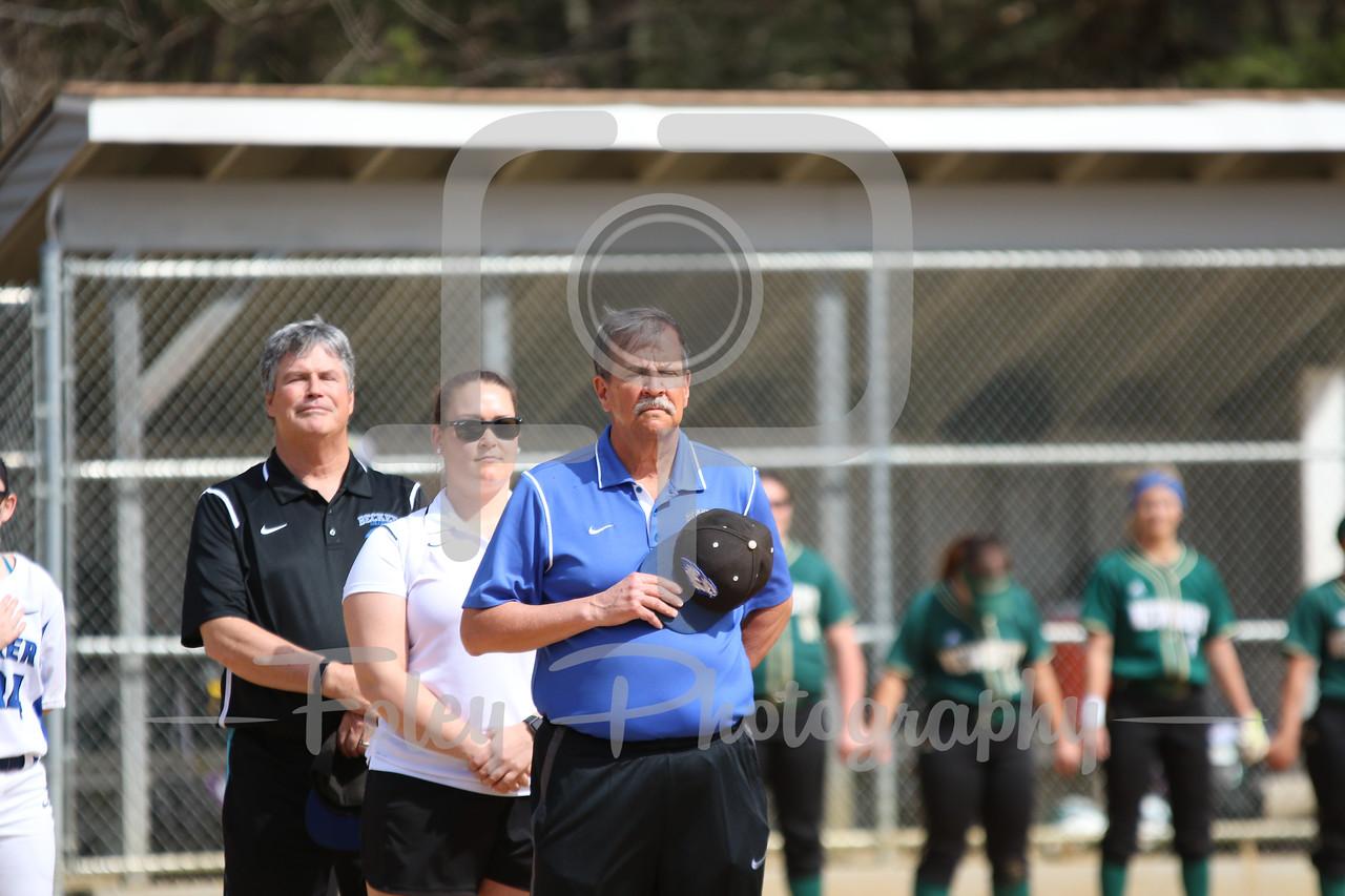 Becker College Hawks head coach Richard Hurley and coaching staff