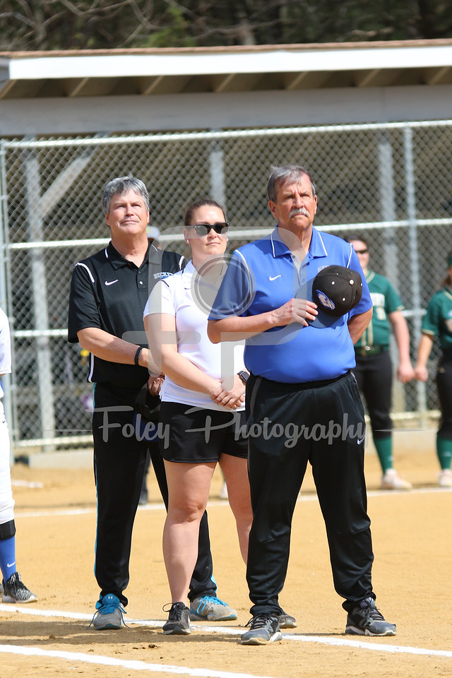 Becker College Hawks head coach Richard Hurley and coaching staff