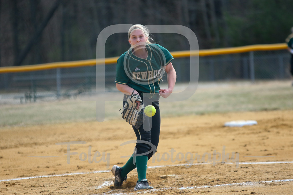 Newbury College Nighthawks pitcher Mallory Stefan (11)