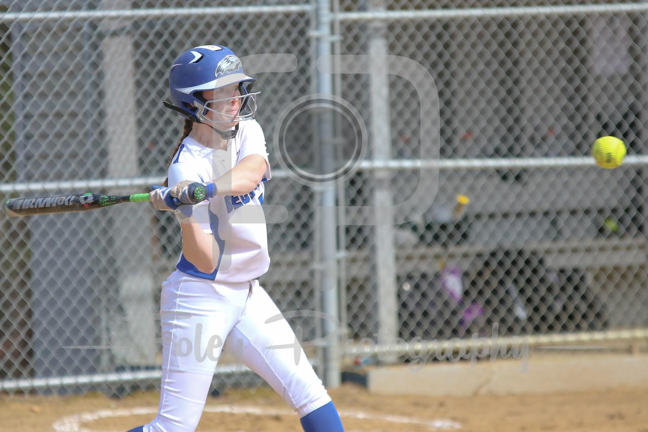 Becker College Hawks outfielder Katelyn MacLean (5)
