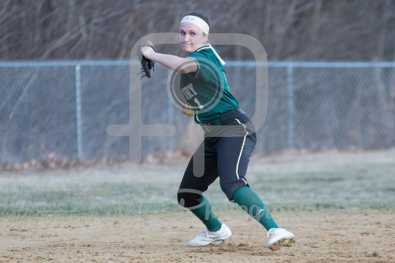 Newbury College Nighthawks third baseman Lindsey Clark (1)