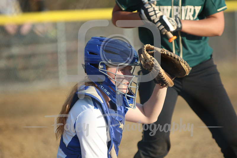 Becker College Hawks catcher Lauren Niemann (7)