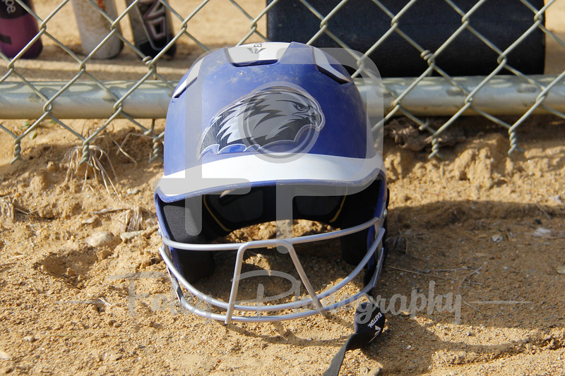 A lone Becker College Hawks helmet