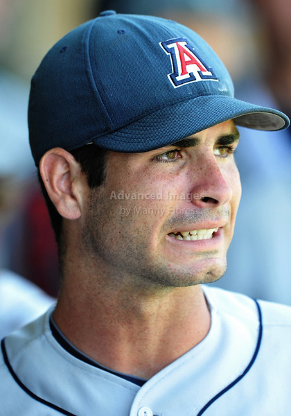 4th June 2010:  <br /> Arizona Pitcher Kurt Heyer #26 shows his expression after just leaving the mound at the 2010 College World Series Fort Worth Regional game between the Baylor Bears and the Arizona Wildcats at Lupton Stadium in Fort Worth, Texas.<br /> Arizona wins 5-3