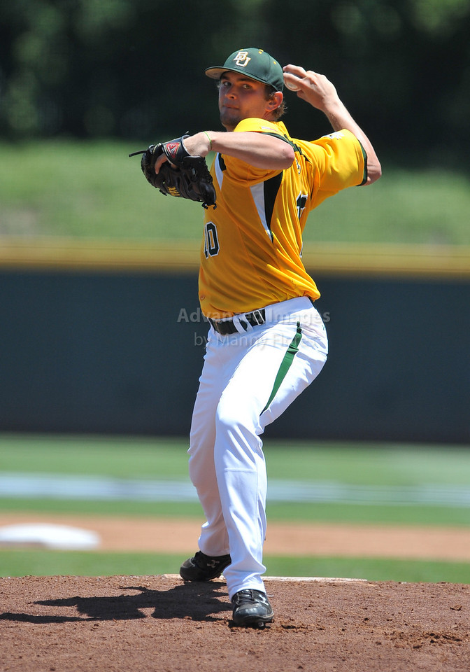5th June 2010:  <br /> Baylor Pitcher Jon Ringenberg #10 on the mound<br /> at the 2010 NCAA Fort Worth Regional game between the Baylor Bears and the Lamar Cardinals at Lupton Stadium in Fort Worth, Texas.<br /> Baylor wins 6-4