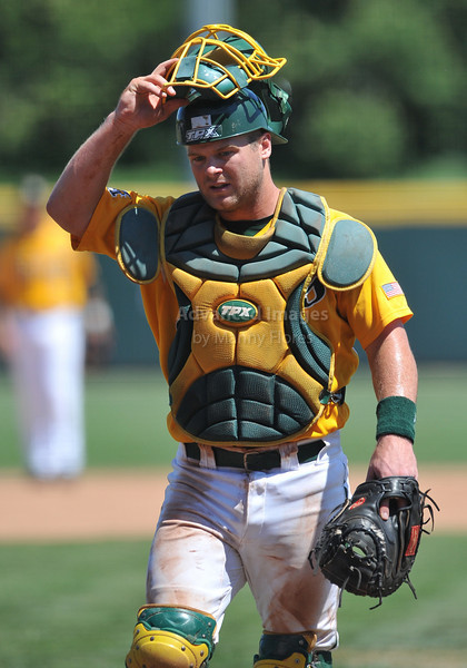 5th June 2010:  <br /> Baylor Catcher Greg Glime #13 in action<br /> at the 2010 NCAA Fort Worth Regional game between the Baylor Bears and the Lamar Cardinals at Lupton Stadium in Fort Worth, Texas.<br /> Baylor wins 6-4