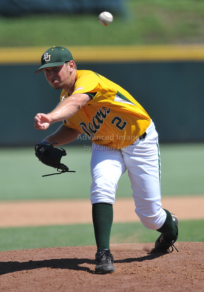 5th June 2010:  <br /> Baylor Pitcher Josh Turley #2 on the mound<br /> at the 2010 NCAA Fort Worth Regional game between the Baylor Bears and the Lamar Cardinals at Lupton Stadium in Fort Worth, Texas.<br /> Baylor wins 6-4