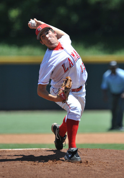 5th June 2010:  <br /> Lamar Pitcher Jonathan Dziedzic #13 on the mound<br /> at the 2010 NCAA Fort Worth Regional game between the Baylor Bears and the Lamar Cardinals at Lupton Stadium in Fort Worth, Texas.<br /> Baylor wins 6-4