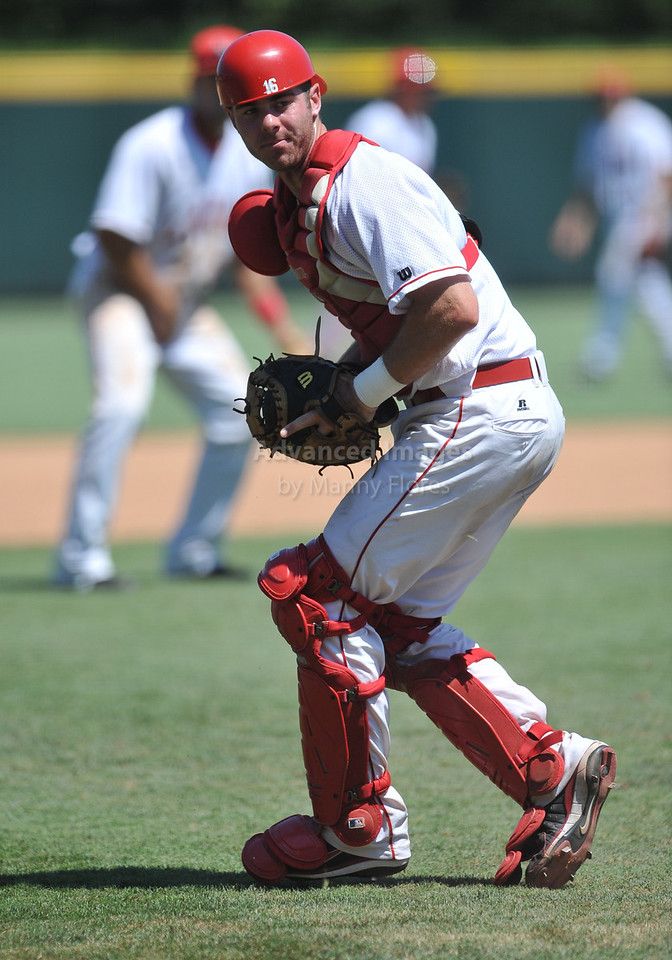 5th June 2010:  <br /> Lamar Catcher Cameron Campbell #36 in action<br /> at the 2010 NCAA Fort Worth Regional game between the Baylor Bears and the Lamar Cardinals at Lupton Stadium in Fort Worth, Texas.<br /> Baylor wins 6-4
