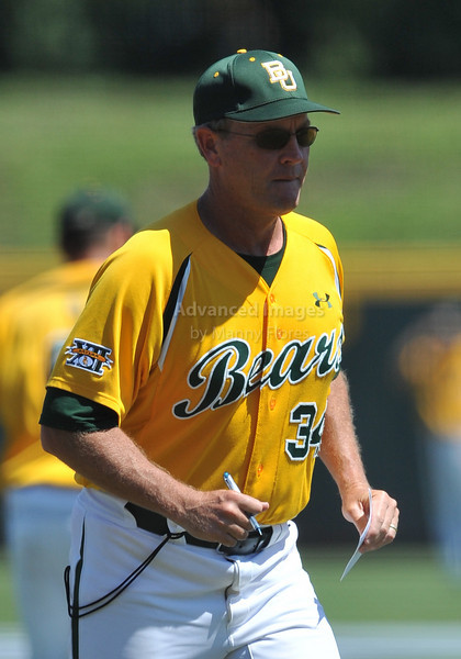 5th June 2010:  <br /> Baylor Head Coach Steve Smith heads to the dugout<br /> at the 2010 NCAA Fort Worth Regional game between the Baylor Bears and the Lamar Cardinals at Lupton Stadium in Fort Worth, Texas.<br /> Baylor wins 6-4