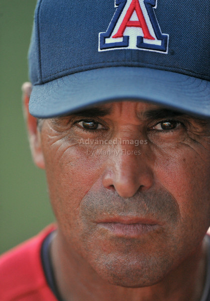 5th June 2010:  <br /> Head Coach Andy Lopez in deep thought<br /> during the 2010 NCAA Fort Worth Baseball Regional game<br /> between the TCU Horned Frogs and the Arizona Wildcats at Lupton Stadium in Fort Worth, Texas.<br /> TCU wins 11-5