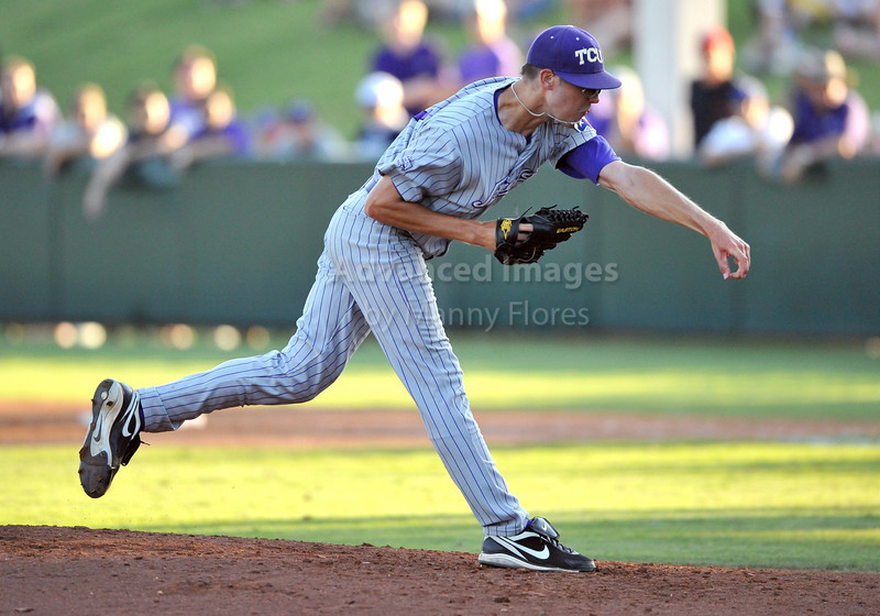 5th June 2010:  <br /> TCU Ace Pitcher Matt Purke #47 takes the mound<br /> during the 2010 NCAA Fort Worth Baseball Regional game<br /> between the TCU Horned Frogs and the Arizona Wildcats at Lupton Stadium in Fort Worth, Texas.<br /> TCU wins 11-5