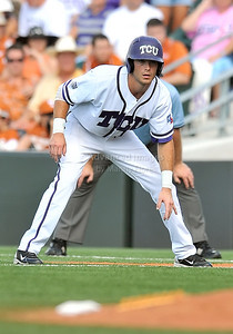 June 13 2010:   12 Taylor Featherston lNF of TCU gets a lead at 1st base as Texas and TCU met for game 3 on Saturday at the 2010 NCAA Super Regionals at UFCU Disch-Falk Field in Austin Texas. TCU advances to the College World Series winning 4-1. (Credit Image: © Manny Flores/Cal Sport Media)