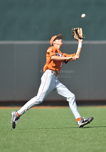 June 13 2010:   1 Cohl Walla RHP/OF of Texas gets a pop fly as Texas and TCU met for game 3 on Saturday at the 2010 NCAA Super Regionals at UFCU Disch-Falk Field in Austin Texas. TCU advances to the College World Series winning 4-1. (Credit Image: © Manny Flores/Cal Sport Media)