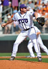 June 13 2010:  <br /> 42 Tyler Lockwoood RHP of TCU pitches in middle relief to get the save as Texas and TCU met for game 3 on Saturday at the 2010 NCAA Super Regionals at UFCU Disch-Falk Field in Austin Texas.<br /> TCU advances to the College World Series winning 4-1.<br /> (Credit Image: © Manny Flores/Cal Sport Media)