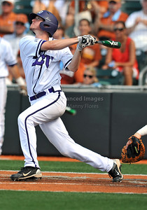 June 13 2010:   31 Jimmie Pharr C of TCU at bat as Texas and TCU met for game 3 on Saturday at the 2010 NCAA Super Regionals at UFCU Disch-Falk Field in Austin Texas. TCU advances to the College World Series winning 4-1. (Credit Image: © Manny Flores/Cal Sport Media)