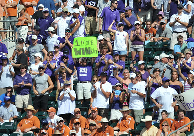 June 13 2010:   TCU fans cheer throughout the game as Texas and TCU met for game 3 on Saturday at the 2010 NCAA Super Regionals at UFCU Disch-Falk Field in Austin Texas. TCU advances to the College World Series winning 4-1. (Credit Image: © Manny Flores/Cal Sport Media)