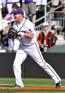 June 13 2010:   17 Matt Curry lNF of TCU celebrate as TCU gets the final  as Texas and TCU met for game 3 on Saturday at the 2010 NCAA Super Regionals at UFCU Disch-Falk Field in Austin Texas. TCU advances to the College World Series winning 4-1. (Credit Image: © Manny Flores/Cal Sport Media)