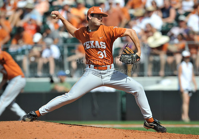 June 13 2010:   31 Chance Ruffin RHP of Texas on the mound as Texas and TCU met for game 3 on Saturday at the 2010 NCAA Super Regionals at UFCU Disch-Falk Field in Austin Texas. TCU advances to the College World Series winning 4-1. (Credit Image: © Manny Flores/Cal Sport Media)
