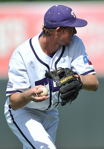 June 13 2010:   35 Jantzen Witte lNF of TCU gets a ground ball  as Texas and TCU met for game 3 on Saturday at the 2010 NCAA Super Regionals at UFCU Disch-Falk Field in Austin Texas. TCU advances to the College World Series winning 4-1. (Credit Image: © Manny Flores/Cal Sport Media)
