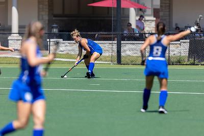 In a preseason exhibition game, the SLU Billikens defeated the Lindenwood Lions 10–0 at Villa Duchesne School.