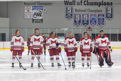 The Maryville Saints came from down 2–0 in the 2nd period to defeat the Alabama Crimson Tide 4–2 on September 11th, 2021 at Maryville University Hockey Center.