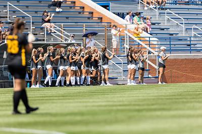 The Iowa Hawkeyes defeated hosts No. 21 SLU Billikens 1–0 at Hermann Stadium on August 22nd, 2021.