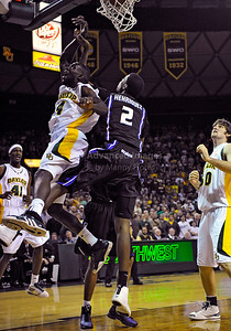 Jan 26th, 2010:   Baylor Quincy Acy #4 F is fouled and makes a 3point play in a NCAA basketball game between the Kansas State Wildcats and the Baylor Bears at the Ferrell Coliseum in Waco, Texas. Kansas State wins 76-74