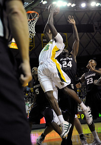 Jan 26th, 2010:   Baylor F/C Ekpe Udoh #13 gets a dunk in a NCAA basketball game between the Kansas State Wildcats and the Baylor Bears at the Ferrell Coliseum in Waco, Texas. Kansas State wins 76-74
