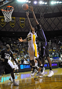 Jan 26th, 2010:   Baylor A.J. Walton #22 G drives to the basket in a NCAA basketball game between the Kansas State Wildcats and the Baylor Bears at the Ferrell Coliseum in Waco, Texas. Kansas State wins 76-74