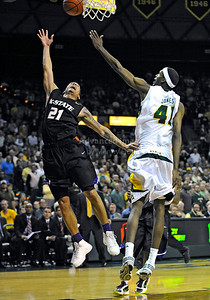 Jan 26th, 2010:   Kansas State Denis Clemente #21 G in action in a NCAA basketball game between the Kansas State Wildcats and the Baylor Bears at the Ferrell Coliseum in Waco, Texas. Kansas State wins 76-74
