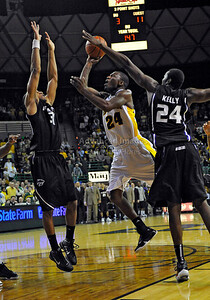 Jan 26th, 2010:   Baylor Lacedarius Dunn #24 G drives to the basket in a NCAA basketball game between the Kansas State Wildcats and the Baylor Bears at the Ferrell Coliseum in Waco, Texas. Kansas State wins 76-74