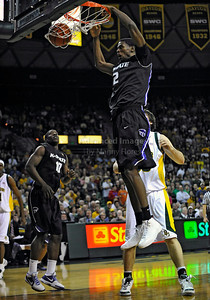 Jan 26th, 2010:   Kansas State Jordan Henriquez #2 F gets a dunk in a NCAA basketball game between the Kansas State Wildcats and the Baylor Bears at the Ferrell Coliseum in Waco, Texas. Kansas State wins 76-74