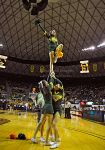 Jan 26th, 2010:   Baylor Bear Cheerleaders in action in a NCAA basketball game between the Kansas State Wildcats and the Baylor Bears at the Ferrell Coliseum in Waco, Texas. Kansas State wins 76-74