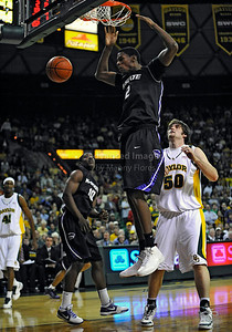 Jan 26th, 2010:   Kansas State Jordan Henriquez #2 F in action in a NCAA basketball game between the Kansas State Wildcats and the Baylor Bears at the Ferrell Coliseum in Waco, Texas. Kansas State wins 76-74