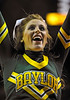 Jan 26th, 2010:  <br /> Baylor Bear Cheerleader in action<br /> in a NCAA basketball game between the Kansas State Wildcats and the Baylor Bears at the Ferrell Coliseum in Waco, Texas.<br /> Kansas State wins 76-74