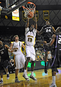 Jan 26th, 2010:   Baylor F/C Ekpe Udoh #13 in action in a NCAA basketball game between the Kansas State Wildcats and the Baylor Bears at the Ferrell Coliseum in Waco, Texas. Kansas State wins 76-74