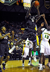 Jan 26th, 2010:   Kansas State Jamar Samuels #32 F gets a rebound in a NCAA basketball game between the Kansas State Wildcats and the Baylor Bears at the Ferrell Coliseum in Waco, Texas. Kansas State wins 76-74