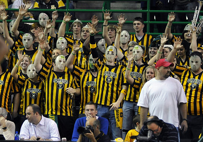 Jan 26th, 2010:   Baylor Bear fans cheering for their team in a NCAA basketball game between the Kansas State Wildcats and the Baylor Bears at the Ferrell Coliseum in Waco, Texas. Kansas State wins 76-74