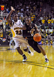 Jan 26th, 2010:   Kansas State Jacos Pullen #0 G drives to the basket in a NCAA basketball game between the Kansas State Wildcats and the Baylor Bears at the Ferrell Coliseum in Waco, Texas. Kansas State wins 76-74
