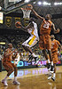 March 6th, 2010:  <br /> Baylor Bears Quincy Acy #4 Forward gets a dunk<br /> in a NCAA basketball game between the Texas Longhorns and the Baylor Bears at the Ferrell Coliseum in Waco, Texas.<br /> Baylor wins 92-77