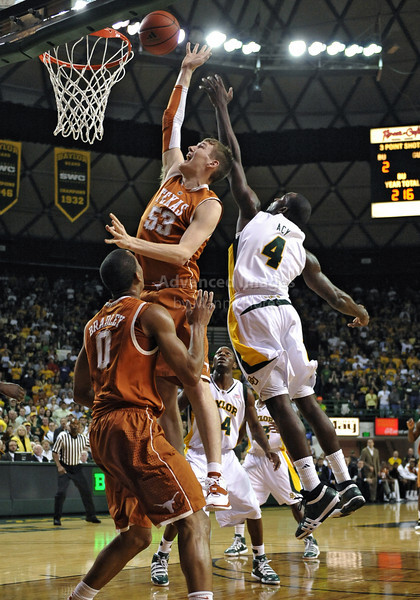 March 6th, 2010:  <br /> Texas Longhorns Clint Chapman #53 F/C in action<br /> in a NCAA basketball game between the Texas Longhorns and the Baylor Bears at the Ferrell Coliseum in Waco, Texas.<br /> Baylor wins 92-77