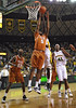 March 6th, 2010:  <br /> Texas Longhorns Damion James #5 G/F gets a rebound<br /> in a NCAA basketball game between the Texas Longhorns and the Baylor Bears at the Ferrell Coliseum in Waco, Texas.<br /> Baylor wins 92-77
