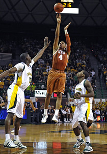 March 6th, 2010:   Texas Longhorn Gary Johnson #4 F stops and shoot in a NCAA basketball game between the Texas Longhorns and the Baylor Bears at the Ferrell Coliseum in Waco, Texas. Baylor wins 92-77