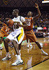 March 6th, 2010:  <br /> Baylor Bears Ekpe Udoh #13 F/C ges a rebound<br /> in a NCAA basketball game between the Texas Longhorns and the Baylor Bears at the Ferrell Coliseum in Waco, Texas.<br /> Baylor wins 92-77