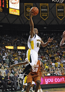 March 6th, 2010:   Baylor Bears Tweety Carter #45 Guard drives to the basket in a NCAA basketball game between the Texas Longhorns and the Baylor Bears at the Ferrell Coliseum in Waco, Texas. Baylor wins 92-77