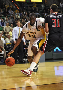 Feb 16th, 2010:   Baylor F/C Ekpe Udoh #13 drives to the basket during a NCAA Basketball game between the Texas Tech Red Raiders and the Baylor Bears at the Ferrell Center at Waco, Texas Baylor wins 88-70