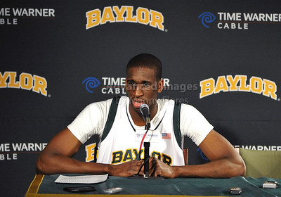 Feb 16th, 2010:   Baylor F/C Ekpe Udoh #13 in an interview after a NCAA Basketball game between the Texas Tech Red Raiders and the Baylor Bears at the Ferrell Center at Waco, Texas Baylor wins 88-70