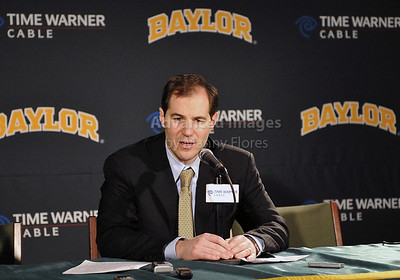Feb 16th, 2010:   Baylor Head Coach Scott Drew during an interview after an NCAA Basketball game between the Texas Tech Red Raiders and the Baylor Bears at the Ferrell Center at Waco, Texas Baylor wins 88-70