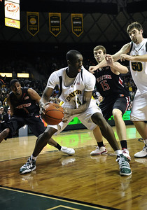 Feb 16th, 2010:   Baylor F/C Ekpe Udoh #13 gets a rebound during a NCAA Basketball game between the Texas Tech Red Raiders and the Baylor Bears at the Ferrell Center at Waco, Texas Baylor wins 88-70